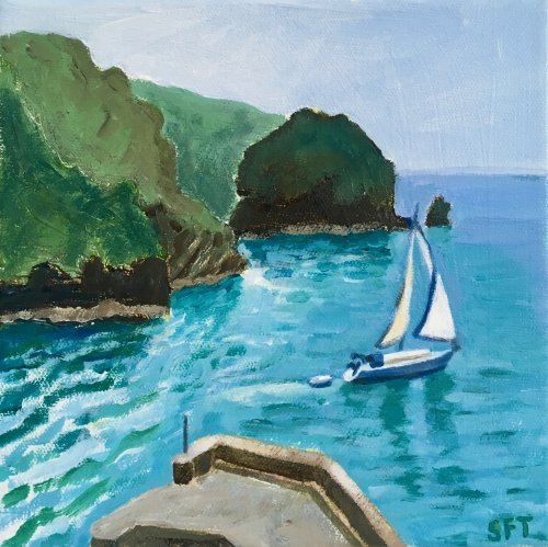 Windsong sailing from Mullion Cove