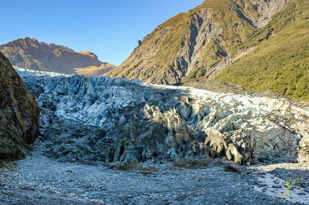 Franz Josef Glacier Face, Southern Alps.