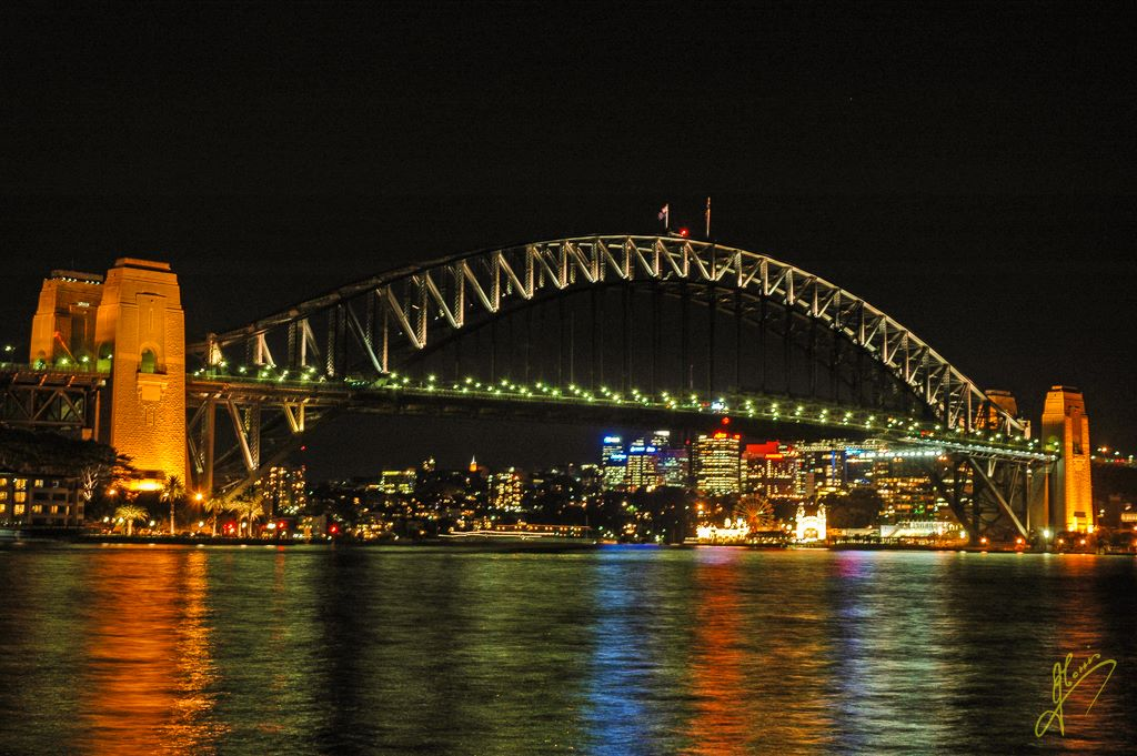 Sydney Harbour Bridge at Night, New South Wales.