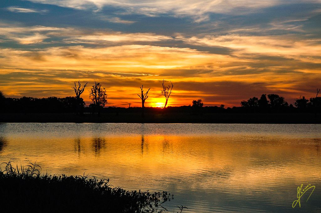 Sunset at Yellow Waters, Kakadu National Park, Northern Territory.