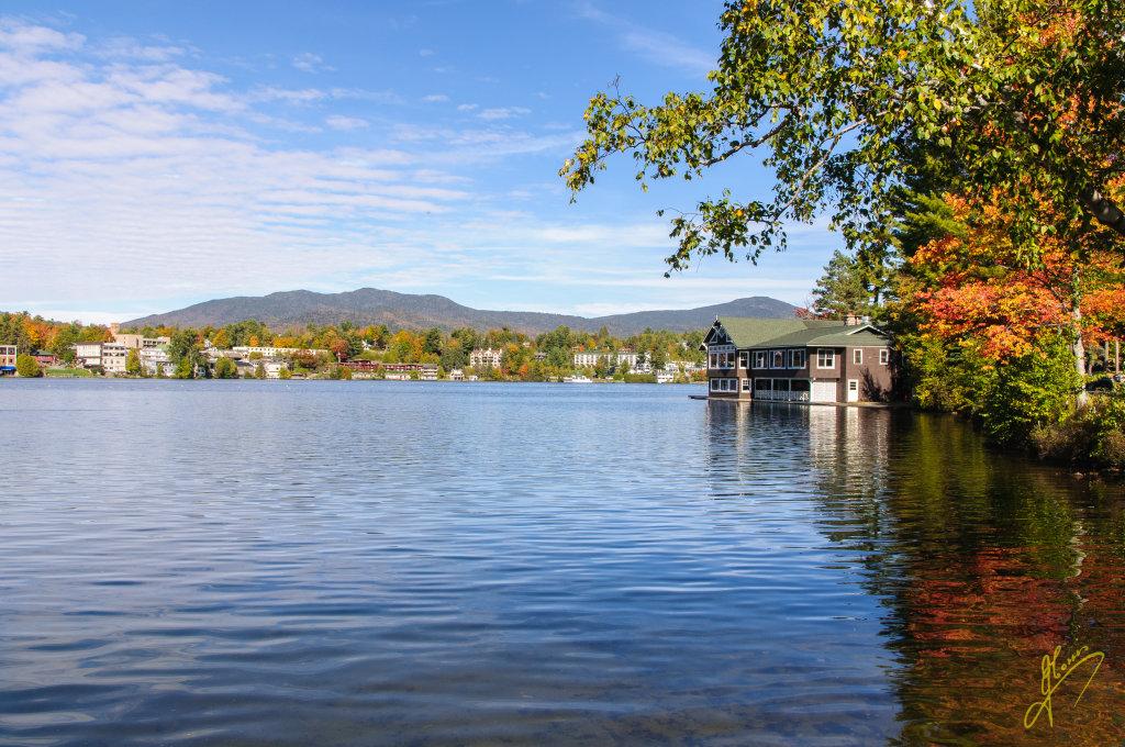 Mirror Lake, New York State.