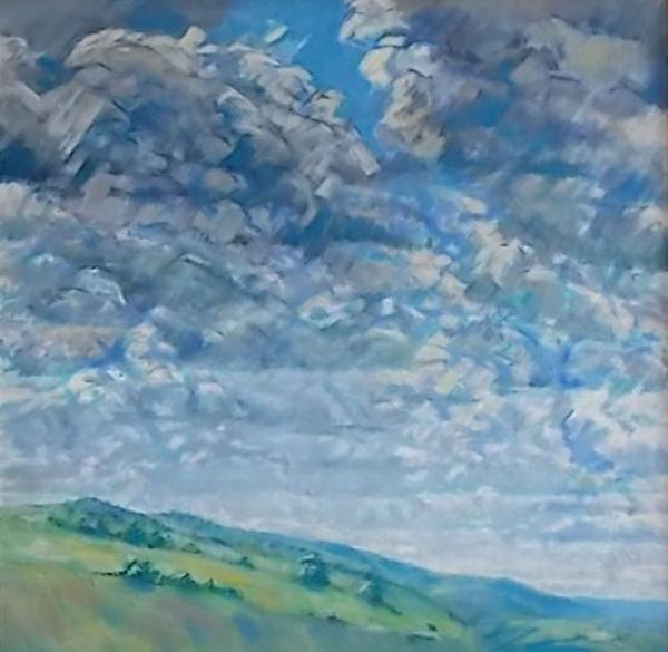 Sky Study, oil.