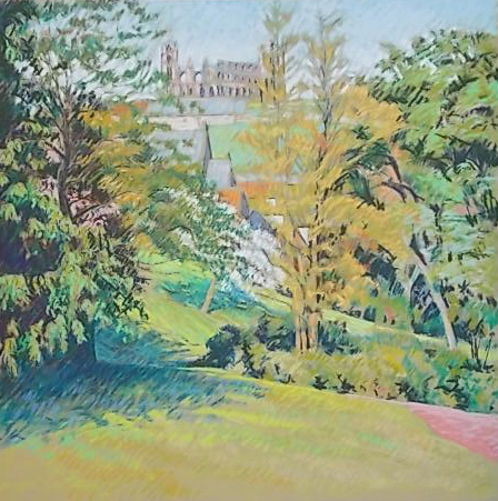 The Pannett Park, Whitby. Pastel