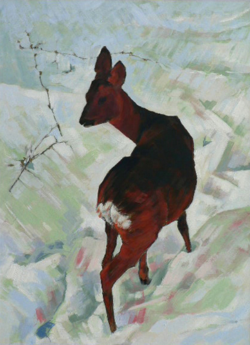 Deer Pausing. Acrylic