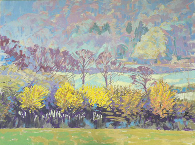 The magic colours of the Hazel hedge. Currently on show at Beverly Art Gallery