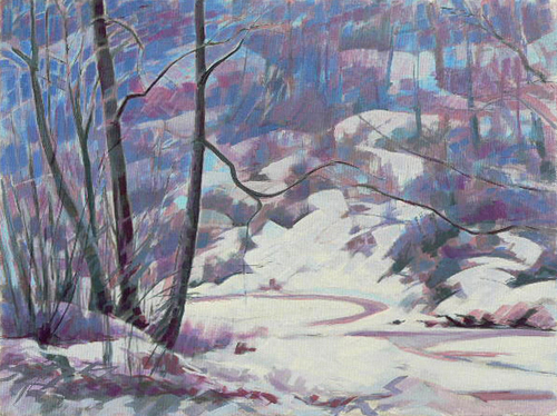 The Esk, how cold can it get. Currently on show at the Beverley Art Gallery