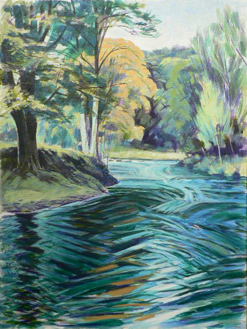 The Swirling Esk. Oil