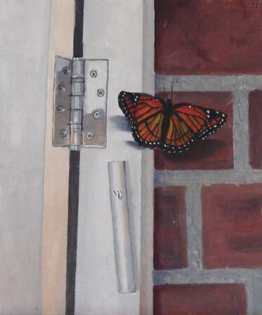 Mezuzah & Butterfly (SOLD)