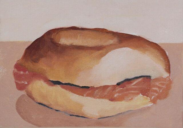Smoked Salmon Bagel (SOLD)