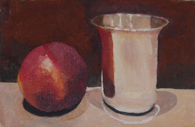 Silver Becher & Nectarine
