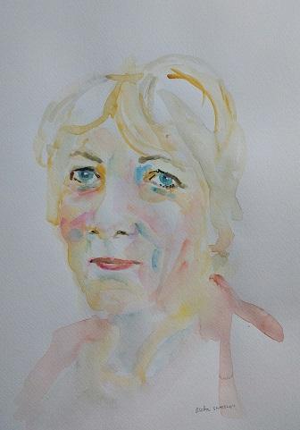 Watercolour Portrait, Gudrun Ståhl Sharpley