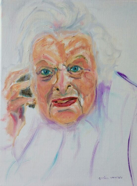 15 March 2021, Betty, 100. oil on canvas 30x40cm