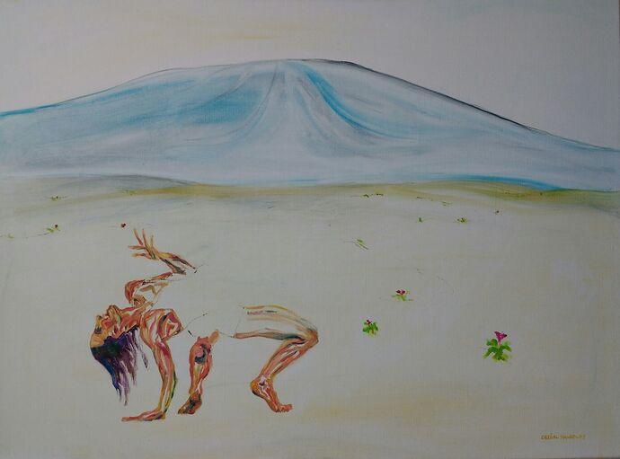 Lava Mountain, 80x60cm oil on linen canvas