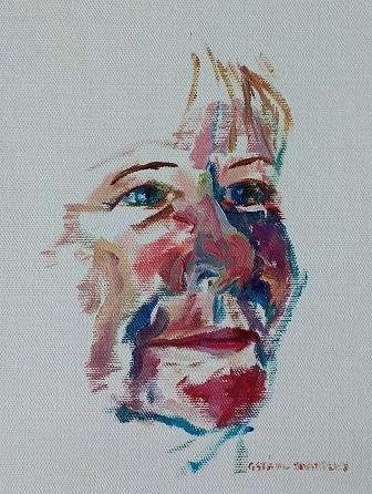 Portrait in oil , Gudrun Ståhl Sharpley