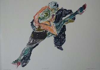 1/1 Monotype in oil, Gudrun Ståhl Sharpley