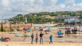 Nigel Byrom Boats Low Tide, St Ives