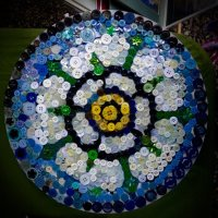 Julies button picture for Yorkshire Rose Fun Day