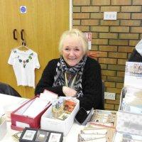 Sylvia on the craft stall 2016.