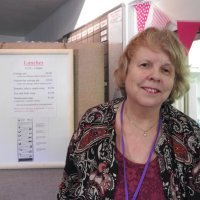 Jean the Queen of the cafe at exhibition 2016