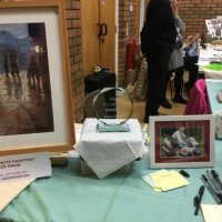 Painting by Doreen Greenshield won by Helen Shaw of Cookridge.