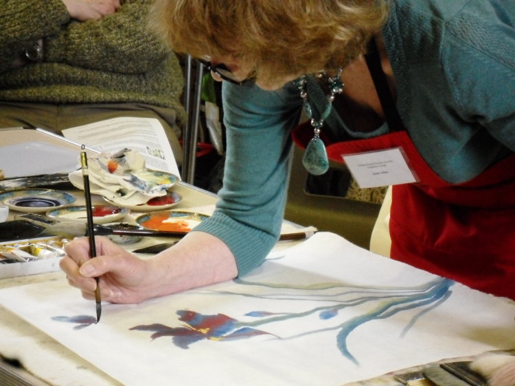 Anne Allen Chinese Brush Painting Dem June 2015