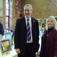 Greg Mulholand MP & Maureen Chairperson - Exhibition Nov 2014