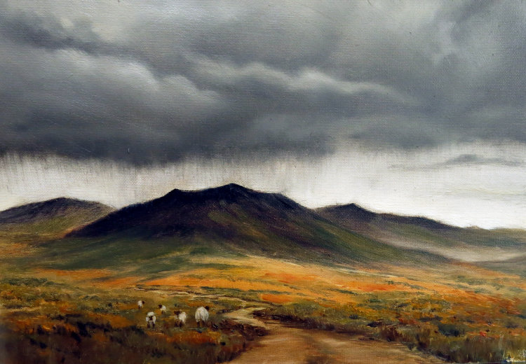 Storm over the moors Sold