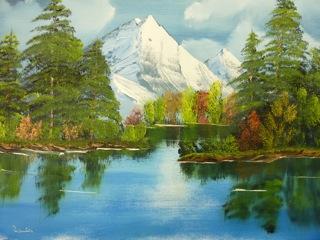 Mountain Scene - Bob Ross Style