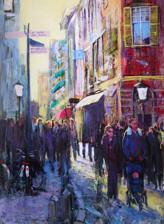 Doreen Greenshields - Street Scene in the Rain
