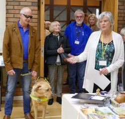 Kevin Beesting with Spencer opening the exhibition 2018 with Janet