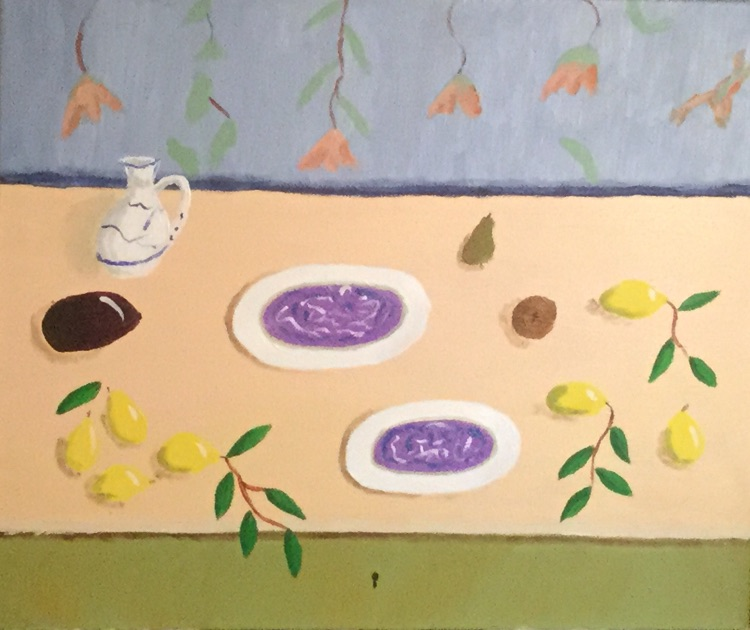 Still life with cream table 1