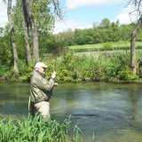 Fishing with Michael on the Bourne Rivulet
