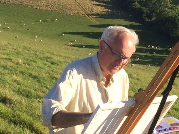 Painting at Broadchalke