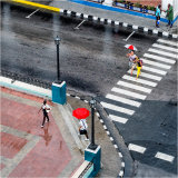Two Red Umbrellas