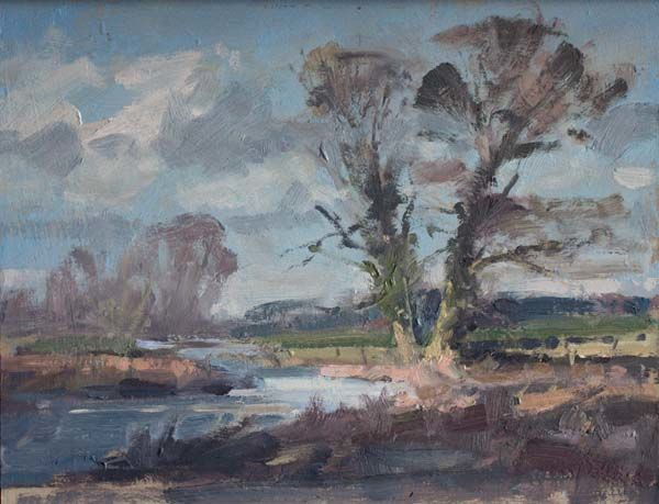 River Landscape Plein Air Sketch