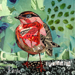 Wordplay Menagerie Mixed Media Paintings