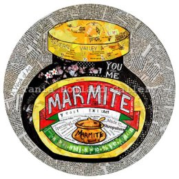 Marmite [Noun]:  A dark savoury spread designed to polarise opinion.