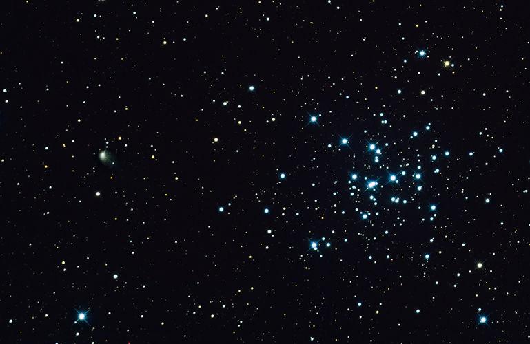 Comet C/2017 T2 (Panstarrs) and Messier 36