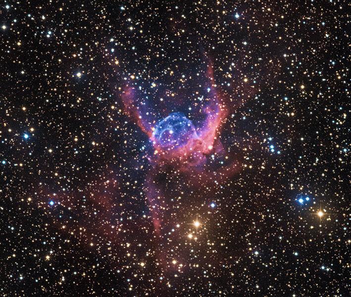 NGC 2359 Thor's Helmet nebula in Canis Major