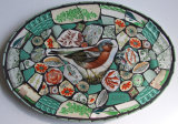Chaffinch & Jade, China  Mosaic
