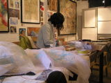 Heather Wharam in her studio