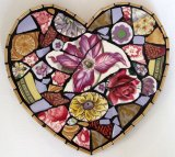 Purple Clematis Heart, China Mosaic