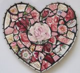 Pink Roses Heart, China Mosaic