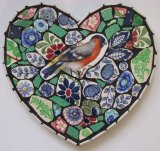 Bullfinch Heart, China Mosaic