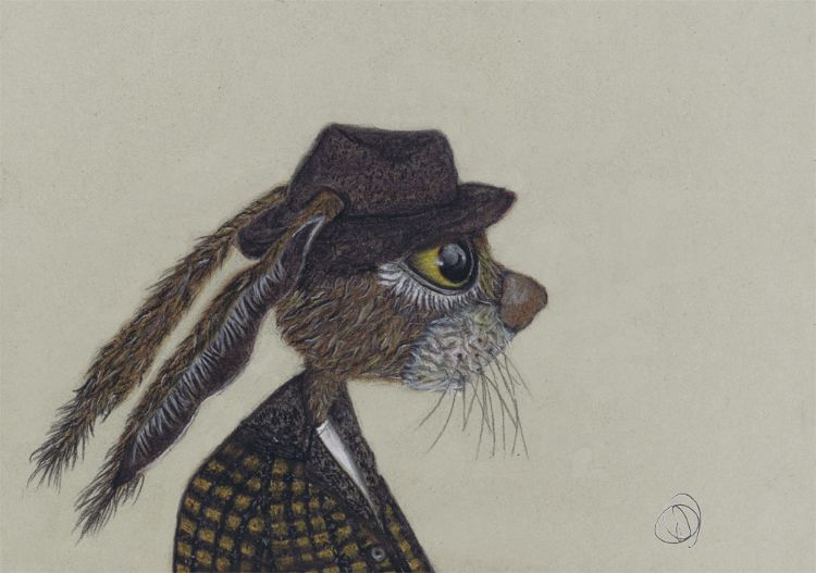 HARE IN HAT