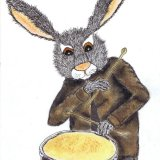 DRUMMING HARE h3108