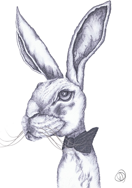 HARE IN BOW TIE