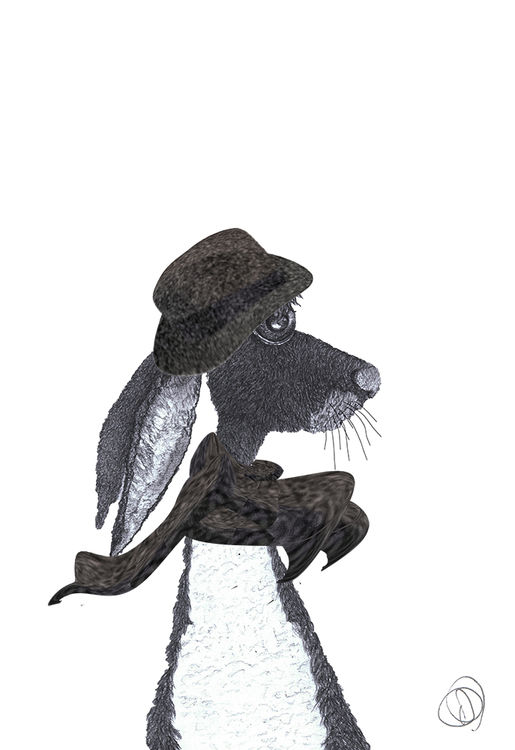 HARE in HAT & SCARF