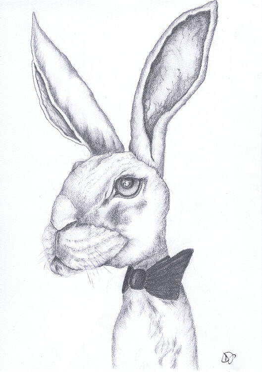 HARE with BOW TIE