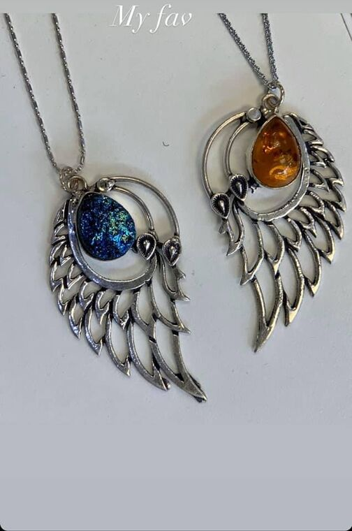 Amber or Blue Angel Wings